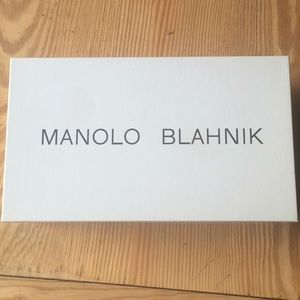 MANOLO BLAHNIK empty shoe box preowned